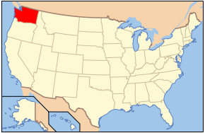 Washington State on Map