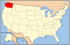 Washington State on Map