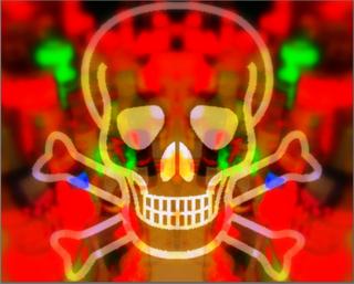 Skull and Crossbones Liquor Upper